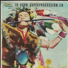 Cine: PROGRAMA DE CINE - CONTINENTE PERDIDO - LEONARDO BONZI, MARIO CRAVERI - GRAN ALBÉNIZ (MÁLAGA) - 1955. Lote 169286472