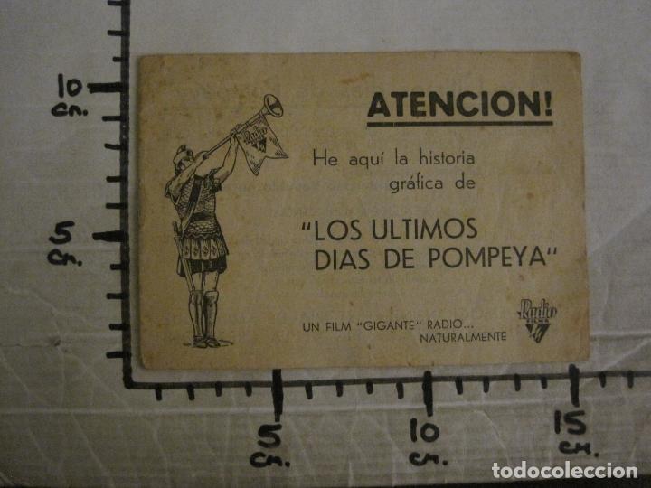 Cine: LOS ULTIMOS DIAS DE POMPEYA-PROGRAMA DE CINE LIBRITO-RADIO FILMS-VER FOTOS-(C-4300) - Foto 10 - 169333728
