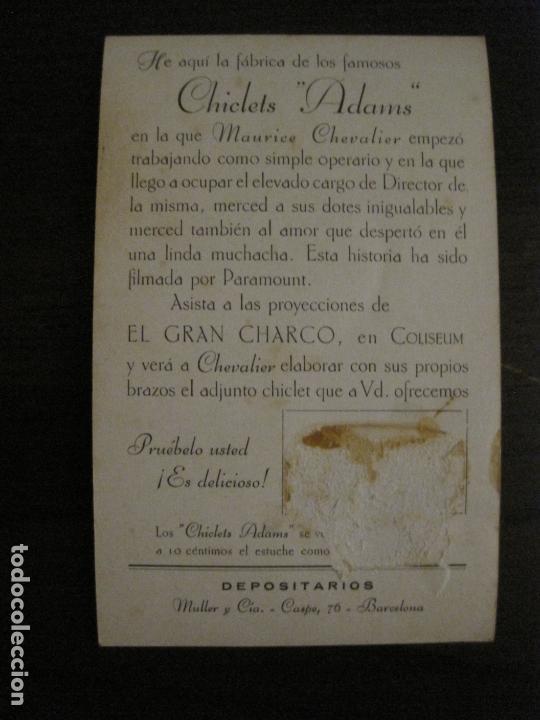 Cine: EL GRAN CHARCO-FABRICA CHICLETS ADAMS-PROGRAMA DE CINE-MAURICE CHEVALIER-VER FOTOS-(C-4304) - Foto 3 - 169334452