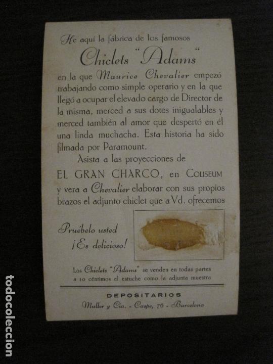 Cine: EL GRAN CHARCO-FABRICA CHICLETS ADAMS-PROGRAMA DE CINE-MAURICE CHEVALIER-VER FOTOS-(C-4305) - Foto 3 - 169334496