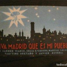 Cine: VIVA MADRID QUE ES MI PUEBLO-PROGAMA DE CINE-VER FOTOS-(C-4309). Lote 169334996