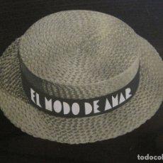 Cine: EL MODO DE AMAR-PROGAMA DE CINE TROQUELADO EN FORMA DE SOMBRERO-VER FOTOS-(C-4311). Lote 169335860