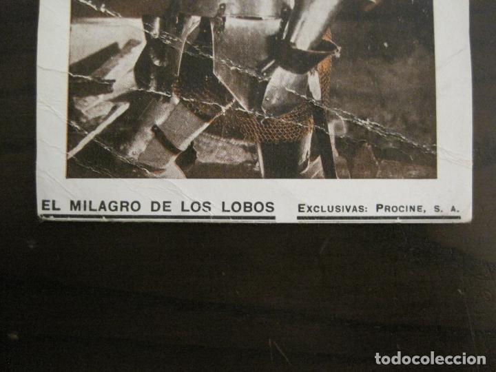 Cine: EL MILAGRO DE LOS LOBOS-PROGRAMA DE CINE-VER FOTOS-(C-4313) - Foto 2 - 169336712