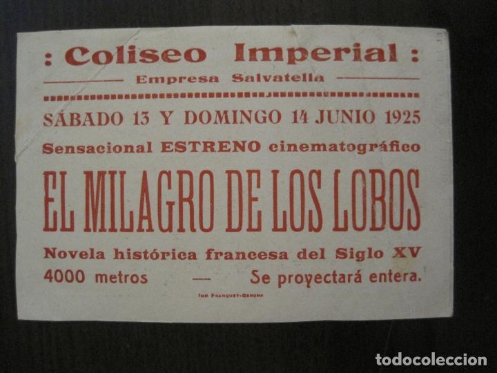 Cine: EL MILAGRO DE LOS LOBOS-PROGRAMA DE CINE-VER FOTOS-(C-4313) - Foto 5 - 169336712