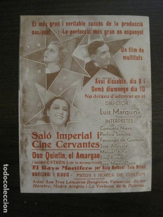 Cine: DON QUINTIN EL AMARGAO-PROGRAMA DE CINE DOBLE-VER FOTOS-(C-4314) - Foto 3 - 169336984