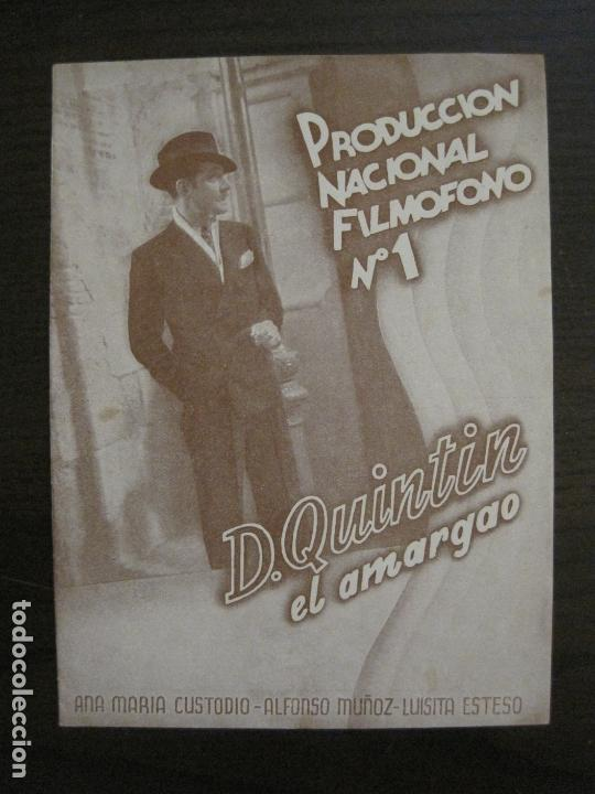 DON QUINTIN EL AMARGAO-PROGRAMA DE CINE DOBLE-VER FOTOS-(C-4314) (Cine - Folletos de Mano - Aventura)