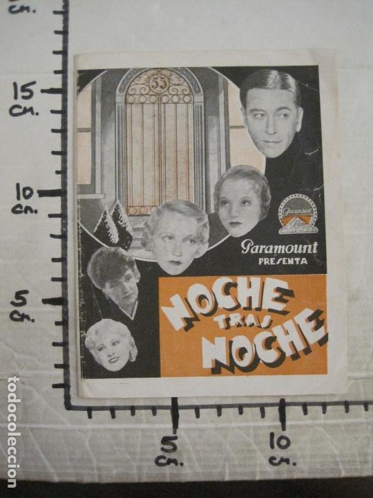 Cine: NOCHE TRAS NOCHE-PROGRAMA DE CINE DOBLE-VER FOTOS-(C-4315) - Foto 4 - 169337188