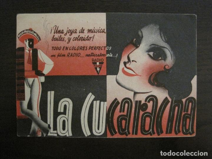 LA CUCARACHA-PROGRAMA DE CINE-VER FOTOS-(C-4316) (Cine - Folletos de Mano - Aventura)