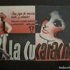 Cine: LA CUCARACHA-PROGRAMA DE CINE-VER FOTOS-(C-4316). Lote 169337372