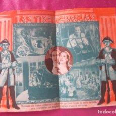 Cine: LAS TRES GRACIAS PROGRAMA DE CINE DOBLE . Lote 169346060