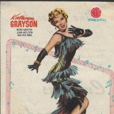 Cine: PROGRAMA DE CINE - CUMBRES DORADAS - KATHRYN GRAYSON - WB - CINE AVENIDA (MÁLAGA) - 1953.. Lote 169395068