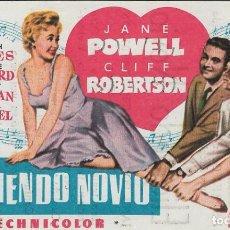 Cine: PROGRAMA DE CINE - ELIGIENDO NOVIO - JANE POWELL, CLIFF ROBERTSON - GRAN ALBÉNIZ (MÁLAGA).. Lote 169408068