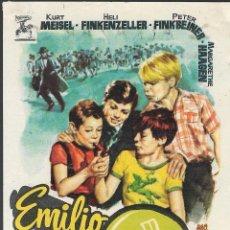 Cine: PROGRAMA DE CINE - EMILIO Y LOS DETECTIVES - KURT MEISEL, HELI FINKENZELLER - CINE ALKAZAR (MÁLAGA) . Lote 169444160