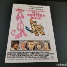 Cine: PROGRAMA DE MANO ORIG - TRAS LA PISTA DE LA PANTERA ROSA - SIN CINE . Lote 169451732
