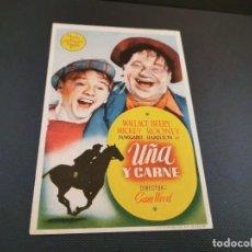 Cine: PROGRAMA DE MANO ORIG - UÑA Y CARNE - SIN CINE . Lote 169454696