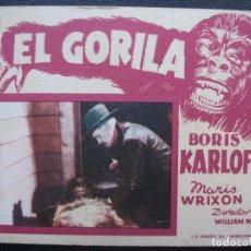Cine: EL GORILA, BORIS KARLOFF. Lote 169486852