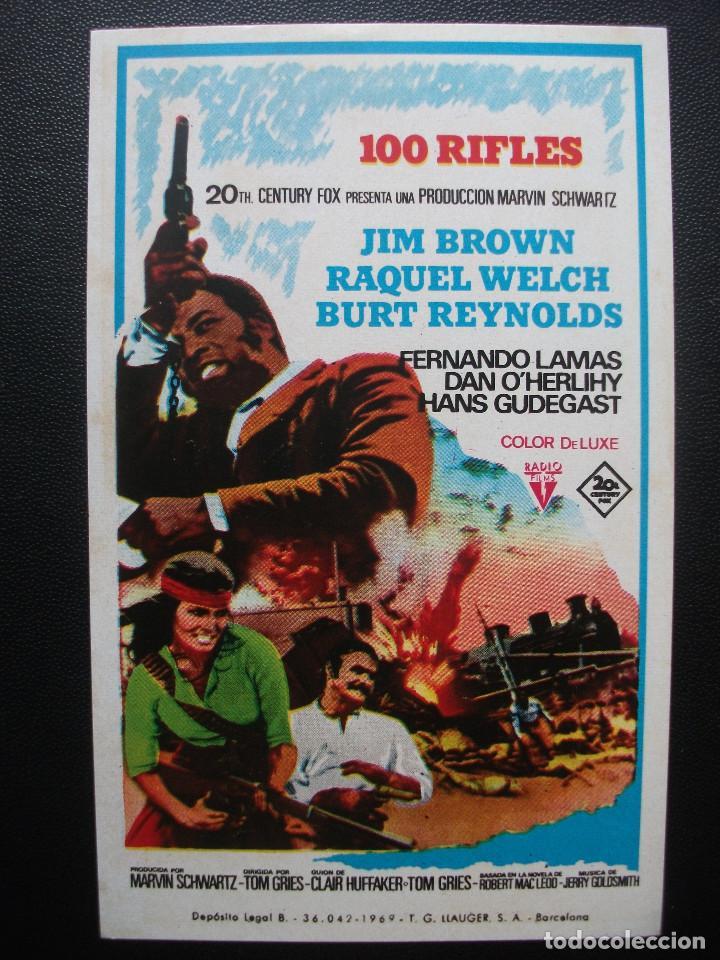 100 RIFLES, JIM BROWN, RAQUEL WELCH, BURT REYNOLDS (Cine - Folletos de Mano - Westerns)