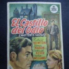 Cine: EL CASTILLO DEL ODIO 1942 JAMES MASON, DEBORAH KERR, ROBERT NEWTON PIE MARTÍ MARÍ BARCELONA PROGRAMA. Lote 169643296