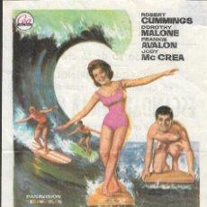 Cine: PROGRAMA DE CINE - ESCÁNDALO EN LA PLAYA - BOB CUMMINGS, DOROTHY MALONE - CINE GOYA (MÁLAGA) - 1966. Lote 169677796