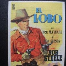 Cine: EL LOBO, BOB STEELE, KEN MAYNARD, CINE NUEVO DE BADALONA. Lote 231687215