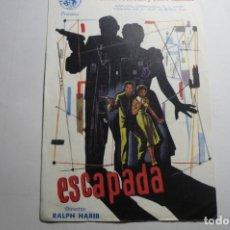 Cine: PROGRAMA ESCAPADA- LOUIS JOURDAN-PUBLICIDAD. Lote 169807496