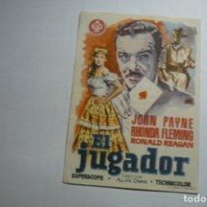Cine: PROGRAMA EL JUGADOR - JOHN PAYNE - PUBLICIDAD. Lote 169807692