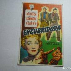 Cine: PROGRAMA ENCUBRIDORA -MARLENE DIETRICH PUBLICIDAD. Lote 169807868