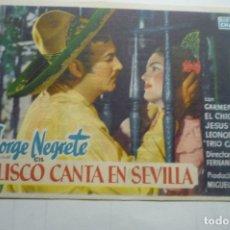 Cine: PROGRAMA JALISCO CANTA EN SEVILLA - JORGE NEGRETE PUBLICIDAD. Lote 169808028