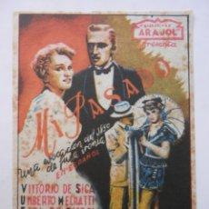 Cine: MI PASADO - PROGRAMA MANO SENCILLO - SIN PUBLICIDAD - VITTORIO DE SICA. Lote 169811668