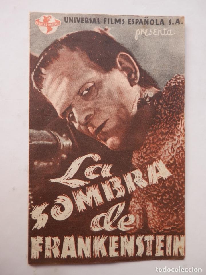 LA SOMBRA DE FRANKENSTEIN - PROGRAMA MANO DOBLE - BORIS KARLOFF - VER FOTOS Y DESCRIPCION (Cine - Folletos de Mano - Terror)