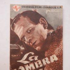 Cine: LA SOMBRA DE FRANKENSTEIN - PROGRAMA MANO DOBLE - BORIS KARLOFF - VER FOTOS Y DESCRIPCION. Lote 169814516