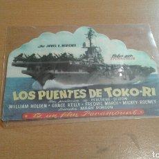 Cine: PROGRAMA DE CINE TROQUELADO CON PUBLICIDAD LOS PUENTES DE TOKORI. Lote 169819390