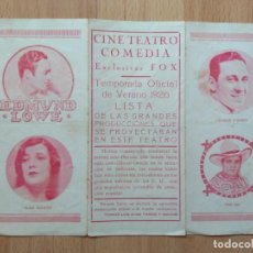 Cine: LISTA DE MATERIAL CINE TEATRO COMEDIA PARA 1926 FOX. Lote 169894144