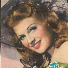 Cine: PROGRAMA DE CINE - ESTA NOCHE Y TODAS LAS NOCHES - RITA HAYWORTH - MONUMENTAL CINEMA (MELILLA) 1951. Lote 169947208
