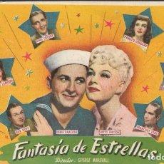 Cine: PROGRAMA DE CINE - FANTASÍA DE ESTRELLAS - BOB HOPE, BING CROSBY - CINE ECHEGARAY (MÁLAGA) 1942.. Lote 169951272