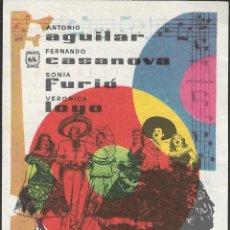 Cine: PROGRAMA DE CINE - FIESTA EN EL CORAZON - ANTONIO AGUILAR - CINE CAPITOL, DUQUE Y TERRAZA (MÁLAGA). Lote 169959060