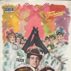 Flyers Publicitaires de films Anciens: PROGRAMA DE CINE - FRENCH CANCAN - JEAN GABIN, MARIA FELIX - CINE CAPITOL, DUQUE Y PLUS ULTRA 1955. Lote 170050344