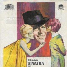 Cine: PROGRAMA DE CINE - GALLARDO Y CALAVERA - FRANK SINATRA - PARAMOUNT - CINE ALBÉNIZ (MÁLAGA) - 1965.. Lote 170065328