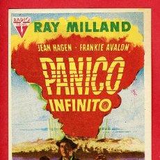 Folhetos de mão de filmes antigos de cinema: PANICO INFINITO , CON CINE TURIA VALENCIA , PMD 701. Lote 190933647