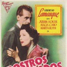 Cine: ROSTROS OLVIDADOS CINE TEATRO PRINCIPAL Y CINEMA LA RAMBLA. Lote 170190176
