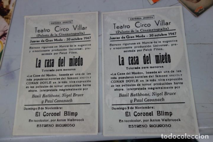 Cine: LOTE DE DOS PROSPECTO DE CINE DE LOS AÑOS 40 - Foto 2 - 170211328