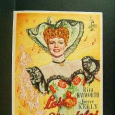 Cine: LAS MODELOS-CHARLES VIDOR-RITA HAYWORTH-GENE KELLY-CINEMA VICTORIA-SAN FELIU DE GUIXOLS-1948. . Lote 170269680