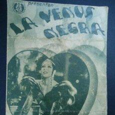 Cine: LA VENUS NEGRA 1936 JOSEPHINE BAKER JEAN GABIN PUBLICIDAD CINE ESPAÑA DOBLE PIE FENIX MERCANTIL . Lote 170307452