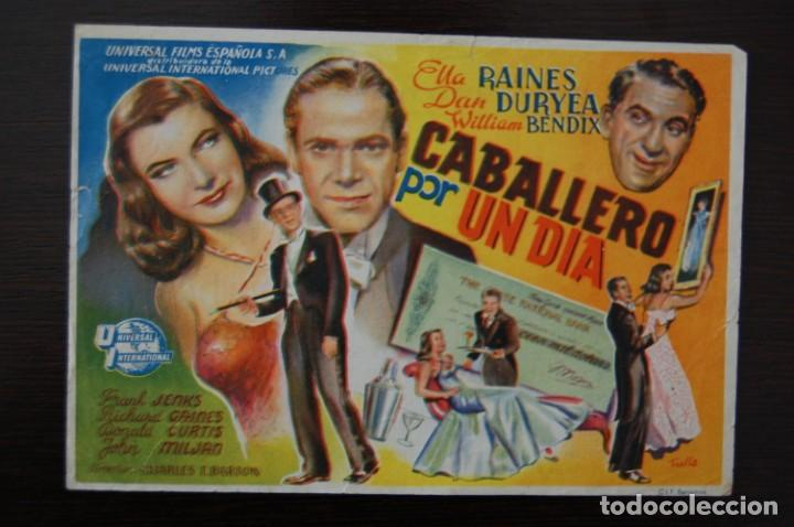 CABALLERO POR UN DÍA. CINE COLISEO ESPAÑA (Cine - Folletos de Mano - Musicales)