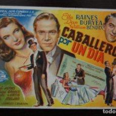 Cine: CABALLERO POR UN DÍA. CINE COLISEO ESPAÑA. Lote 170318228