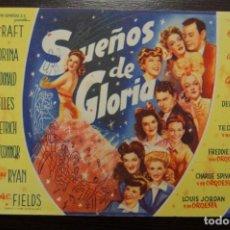 Cine: SUEÑOS DE GLORIA. Lote 170318460