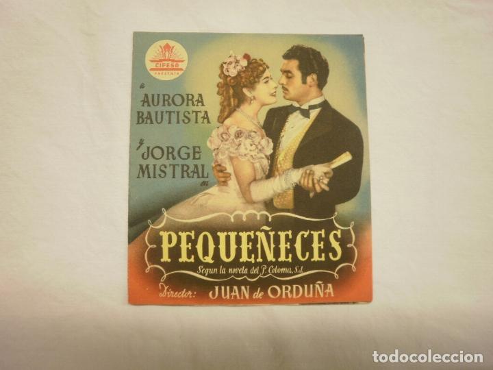 PROGRAMA MANO CINE- PEQUEÑECES (Cine - Folletos de Mano - Clásico Español)