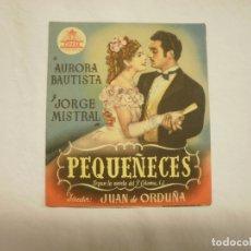 Cine: PROGRAMA MANO CINE- PEQUEÑECES. Lote 170343060