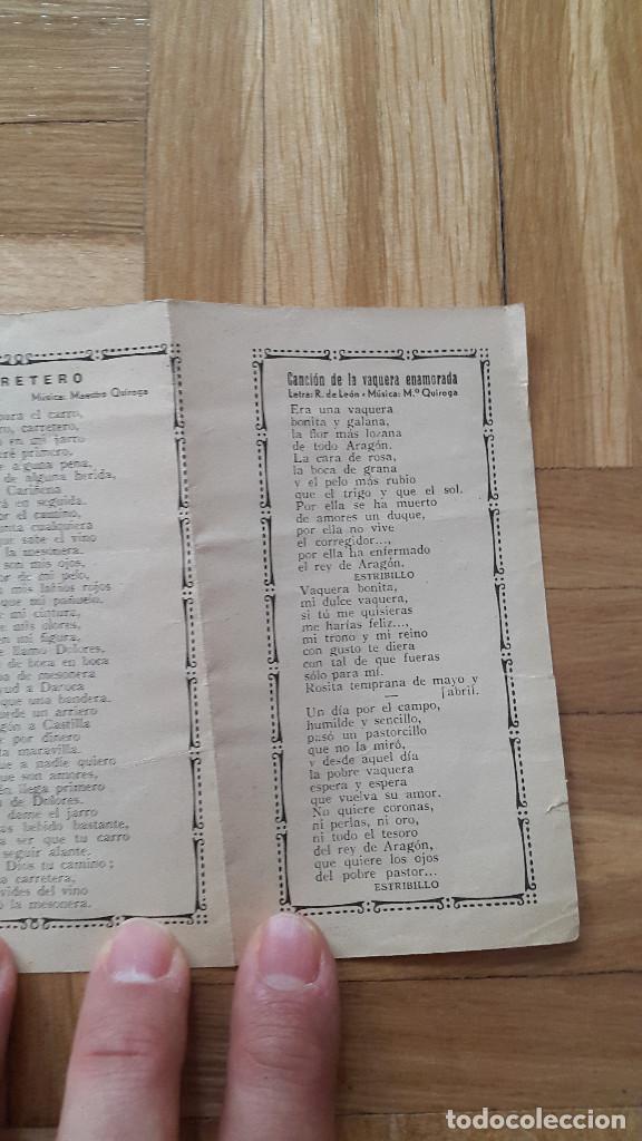 Cine: Programa de Cine Doble / Cancionero - La Dolores - Florian Rey / Conchita Piquer - CIFESA, 1940 - - Foto 7 - 170357060