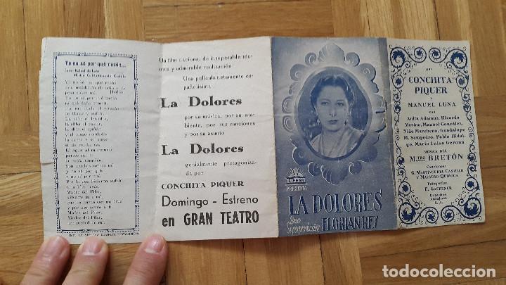 Cine: Programa de Cine Doble / Cancionero - La Dolores - Florian Rey / Conchita Piquer - CIFESA, 1940 - - Foto 8 - 170357060